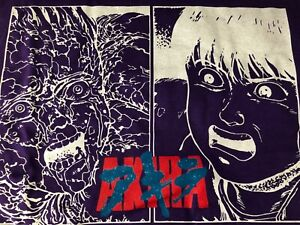 Limited Rare Akira Tetsuo Kaneda Anime Purple T shirt Manga Size XLarge