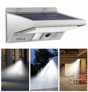 Solar Lights Outdoor Motion Sensor 12pk Powered Security Stainless Steel G2