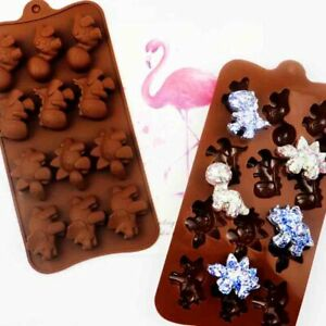 Silicone Chocolate Mould Candy Cookies Baking Mold Fondant Ice Cube Tray Jelly