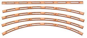 "Track Laying Templates OO/HO 16.5mm gauge - 4 radii 18"" 24"" 30"" 36"" + straight."