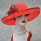 Womens Wedding Kentucky derby Sinamay Race Dress Wide Brim Church Hat T145