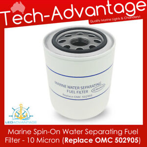 """BOAT WATER SEPARATING FUEL FILTER OUTBOARD REPLACES OMC 502905 THREAD 1"""" 12 UNF"""