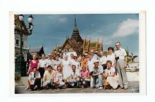 Asia Vacation Happy  Men Women Tourists Temple Vtg 1960s Color Photo