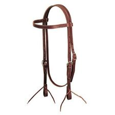 Weaver Leather Latigo Leather Browband Headstall Horse Size, Burgundy