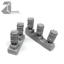 Zinge Industries Sci-Fi Barrels Containers - Sprue of 5 S-SFB01