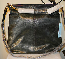 Antonio Melani women's handbag, Leather Haircalf Hobo NWT MSRP $229 black purse