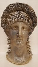Greek Head Goddess Statue Art Sculpture antique Reproduction