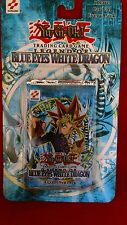 YUGIOH LEGEND OF BLUE EYES WHITE DRAGON BOOSTER BLISTER PACK SEALED CARDS MINT.