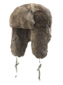 Crown Cap Rabbit Full Fur Russian Style Natural SizeM RRP$145 Trapper Hat Vintag
