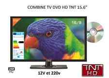 Combo TV tnt HD + DVD 16'' 39 CM HDMI USB per camper 12 v / 220 v