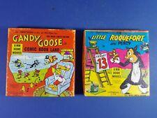VINTAGE 8mm CARTOON MOVIE FILMS - GANDY GOOSE & LITTLE ROQUEFORT