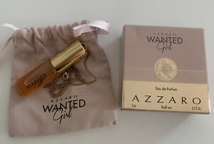 AZZARO WANTED GIRL Eau De Parfum Necklace Roll-On New