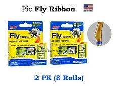 Pic Fly Ribbon - Hanging Glue Sticky Tape for Insect, Bugs, Fly.. 2 PK (8 Rolls)