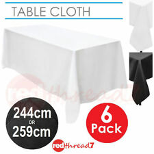Solid Pattern Rectangular Table Cloths