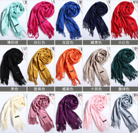 Women's Oversized Cashmere Wool Wraps Warm Blanket Scarves Solid Pashmina Scarf