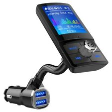 Car Bluetooth Wireless AUX Stereo Audio Receiver FM Transmitter US Radio Adapter