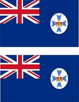 2x Adhesivo adesivi pegatina sticker vinilo bandera australia queensland