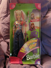 Mattel 1998 Happenin' Hair Barbie Doll NRFB Pink Box Ages 3+