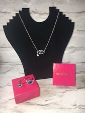 BUTLER AND WILSON CRYSTAL EYE NECKLACE AND RING SET