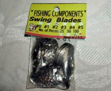 100 SWING SPINNER BLADE #2 HAMMERED Nickel;USA;WORM RIG,SWISS LURES,SPINNERS
