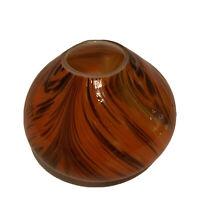 "HD Design Art Glass Blown Vase Multicolor  5"" x 7"" Fall Colors"