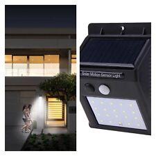 Luz Solar De Exterior Con Sensor De Movimiento Inteligente 20 LED Pared 8 Horas