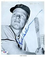 Richie Ashburn Cubs Psa/dna Signed 8x10 Photo Authenticated Autograph
