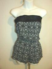 Mimi Chica - Sleeveless Rayon Romper / Shorts , size Medium, Crochet Top Band