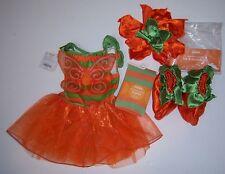 NWT Gymboree 6-12 Months Orange Pumpkin Fairy Costume Stripe Tights Hat Booties