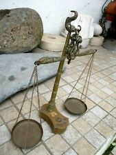 """Vintage in Solid Brass Scale Fish Shape With Original Patina Embossed """"RES 385"""""""