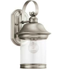"""Sea Gull Lighting 88081-965 13.5"""" H Antique Brushed Nickel (E-26) Outdoor Wall"""