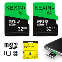 2 Pack 32G 64G Micro SD Card SDXC SDHC Flash Class 10 TF Card Memory Card 80MB/s