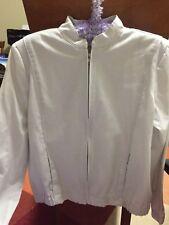 Womans Garmentcraft Size 14 Soft Grey Long Sleeve Zip Front Jacket