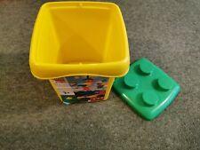 Lego duplo storage box Yellow Large Yellow Lego Brick Storage Bucket With Handle