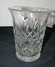 Genuine 24% Lead Crystal Vase by DePlomb Crystal USA Pineapple Diamond Pattern