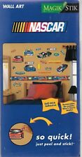 NASCAR peel and stick wall stickers removable pre-cut Magik Stik race cars