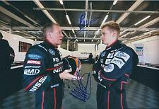 Martin and Alex BRUNDLE 12x8 DOUBLE SIGNED Photo F1 Genuine Autograph AFTAL COA
