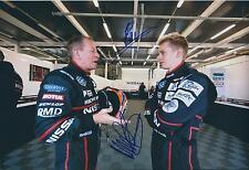 Martin and Alex BRUNDLE 12x8 DOUBLE SIGNED Photo F1 Genuine Autograph AFTAL COA