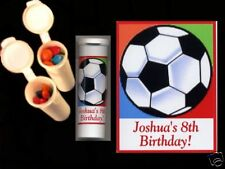 Soccer party favors personalized candy tubes