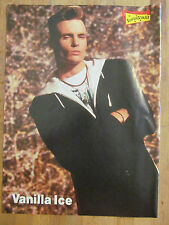 Vanilla Ice, Luke Perry, Double Full Page Vintage Pinup