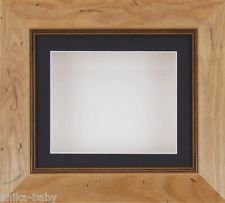 """6x5"""" Rustic Pine frame Deep Box Display Medals Objects 3D Art Black Mount White"""