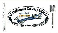 Drag Racing NHRA Sticker Decal Roland Leong Hawaiian Dragster oval