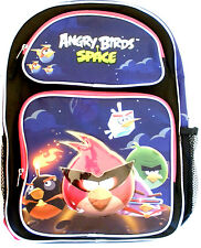 "Angry Birds Space Blue School 16"" Backpack Back Pack! Angry Birds Backpack-New!"