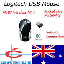 Logitech M187 BLACK USB Wireless Laser Mouse Mice PC MAC Apple Asus Toshiba Dell
