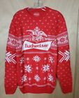 Ugly Christmas Sweater Budweiser Christmas Sweater Size Medium Red & White