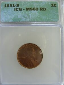 1931-S Lincoln Cent ICG MS-63 RD