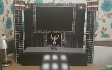wwe custom attitude raw is war stage (bigger scale) for wrestling figures