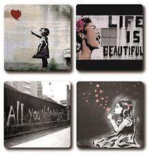 Banksy Art 4 Piece Coaster Sets