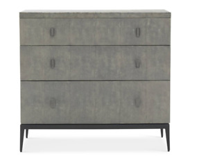 Mitchell Gold + Bob Williams Small Gray Solange 3 Drawer Chest