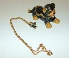 YORKIE PUPPY ENAMELED JEWEL BOX & MATCHING NECKLACE             #62548
